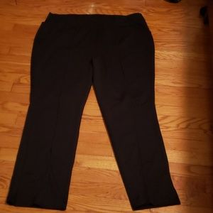 Dana Buchman black pull up dress pants